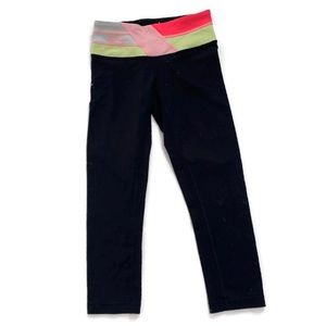 Lululemon Reversible Black Cropped Leggings
